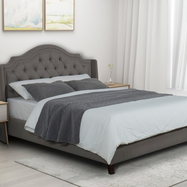 Briese Upholstered Standard Bed by Canora Grey
