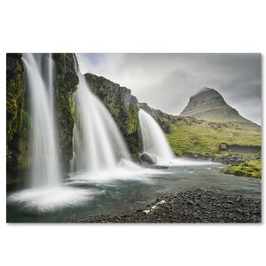 'Kirkjufell Triad' by Michael Blanchette Photographic Print on Wrapped Canvas by Trademark Fine Art