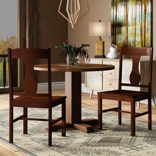 Freya Solid Wood Dining Chair (Set of 2) by Loon Peak
