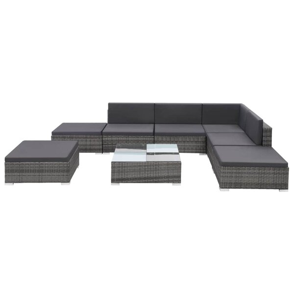 Weymouth Outdoor 8 Piece Sectional Seating Group with Cushions by Ivy Bronx