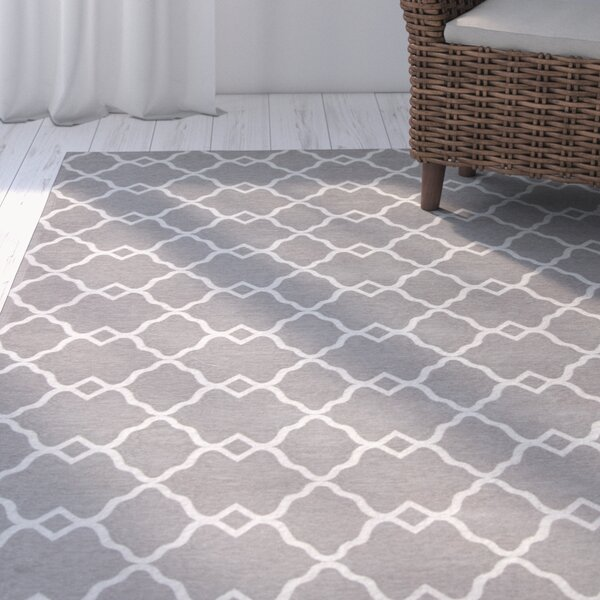 Cambridge Gray Layla Area Rug by Breakwater Bay