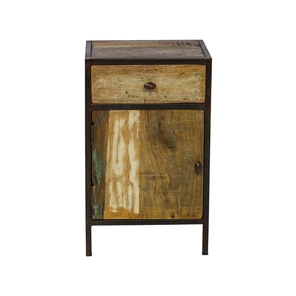 Reclaimed Mango Wood 1 Drawer Nightstand by Design Tree Home
