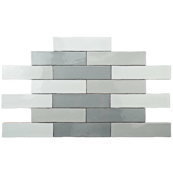 Anchorage 3 x 12 Ceramic Field Tile in Craquele Mix Gray by EliteTile