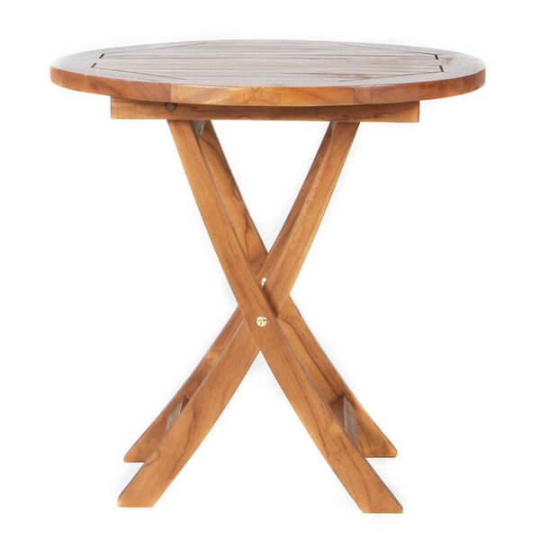 Humphrey Folding Teak Bistro Table by Longshore Tides