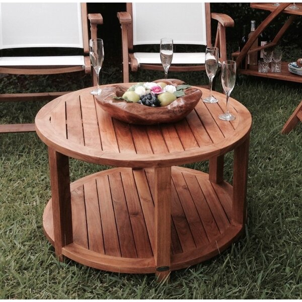 Hammond Teak Round Coffee Table by Loon Peak
