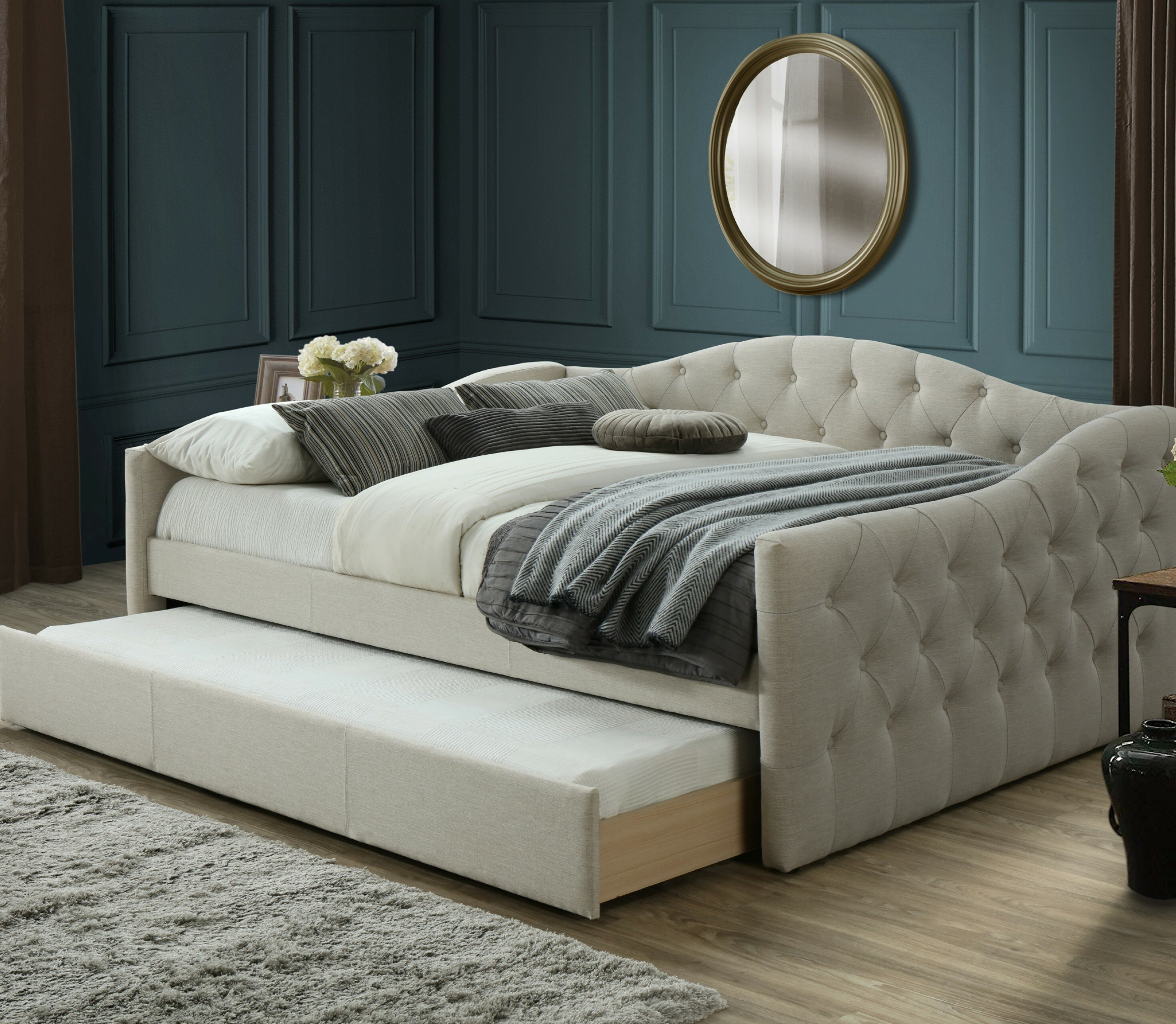 - Hollandsworth Queen Day Bed With Trundle & Reviews Birch Lane