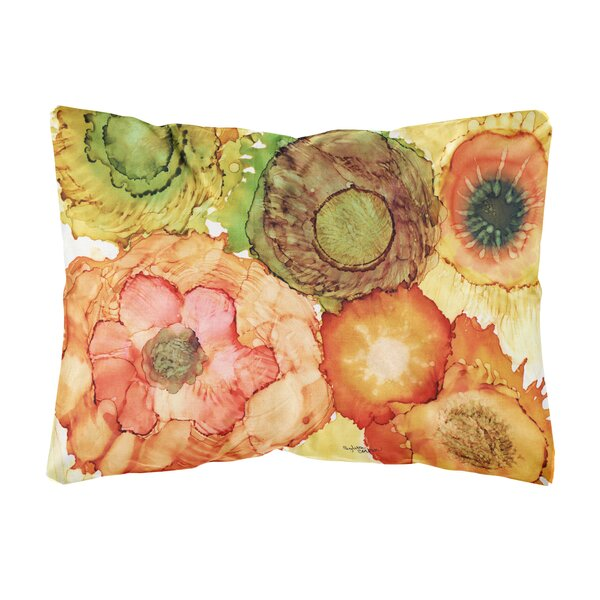 Shingleton Abstract Flowers Blossoms Fabric Indoor/Outdoor Throw Pillow by Winston Porter
