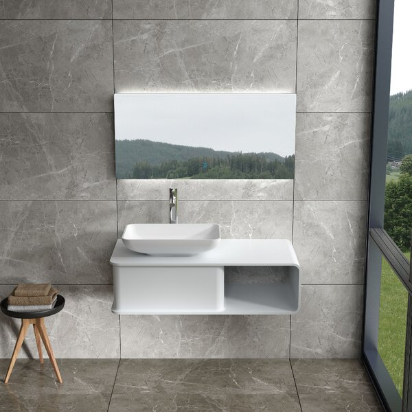Ashwell 39 Wall Mounted Single Bathroom Vanity