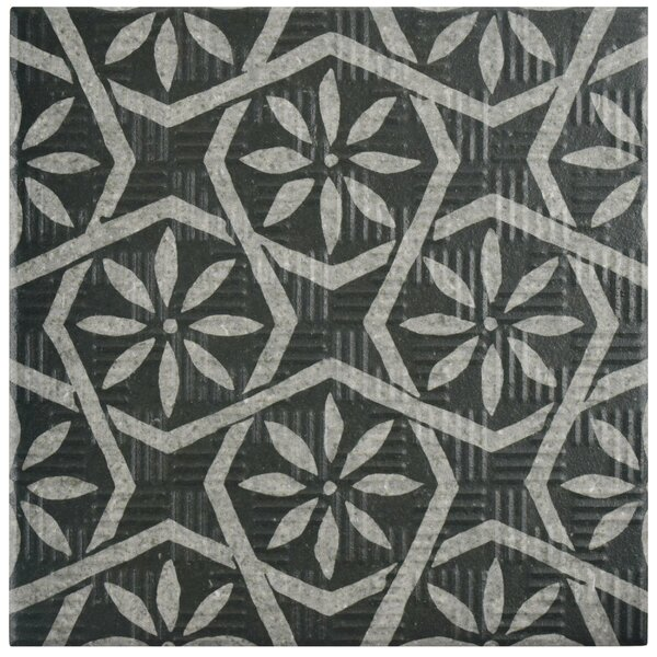 Region 6 x 6 Porcelain Field Tile in Black/Gray by EliteTile
