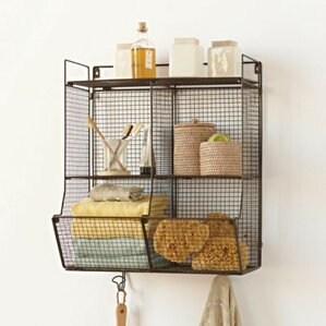 Wire Wall Hanging Baskets wire wall basket with hooks | wayfair