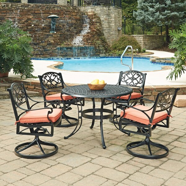 Biscayne 5 Piece Dining Set with Cushion by Home Styles