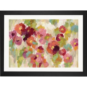 'Coral and Emerald Garden I' Print by East Urban Home