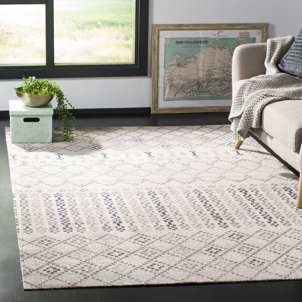 Griffeth Gray/Charcoal Indoor/Outdoor Area Rug by Bungalow Rose