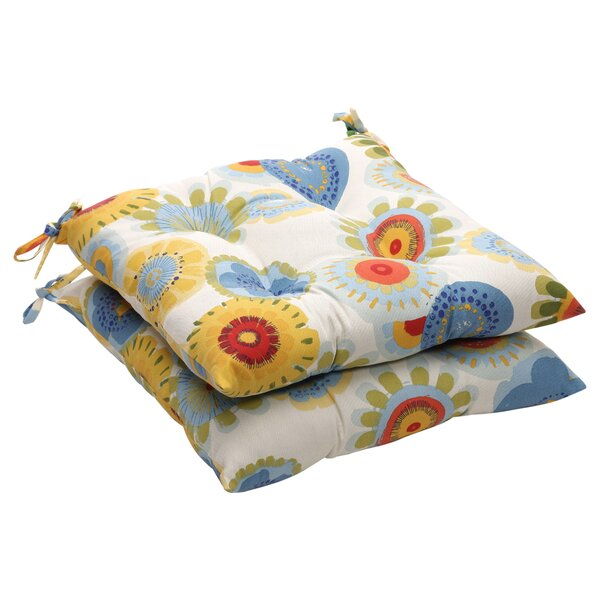 Indoor/Outdoor Lounge Chair Cushion (Set of 2) by Pillow Perfect