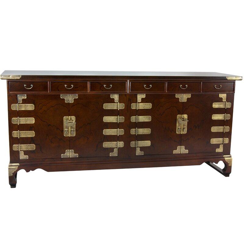 Oriental Furniture Korean Double Cabinet Sideboard & Reviews | Wayfair