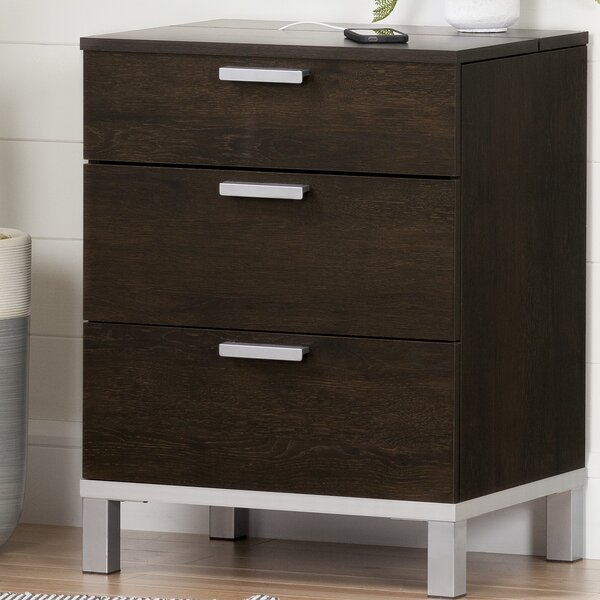 Flexible 3 Drawer Nightstand by South Shore