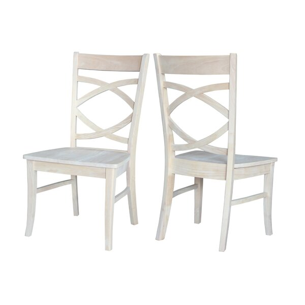 Aarush Solid Wood Dining Chair (Set of 2) by Rosecliff Heights