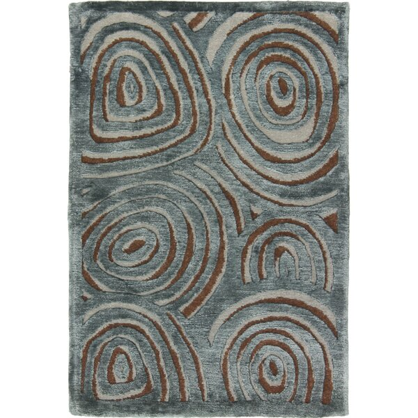 One-of-a-Kind Auburn Road Hand-Knotted Blue Area Rug by Isabelline