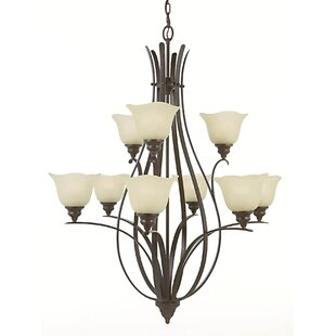 Dakota 9-Light Shaded Chandelier By Charlton Home