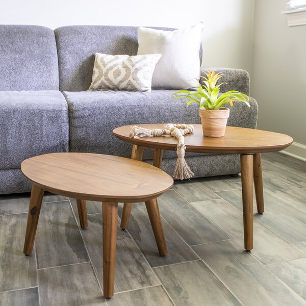 Lundgren 2 Piece Nesting Tables By George Oliver
