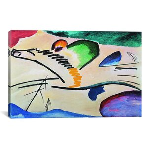'Lyrically (Lyrisches)' by Wassily Kandinsky Painting Print on Canvas by iCanvas