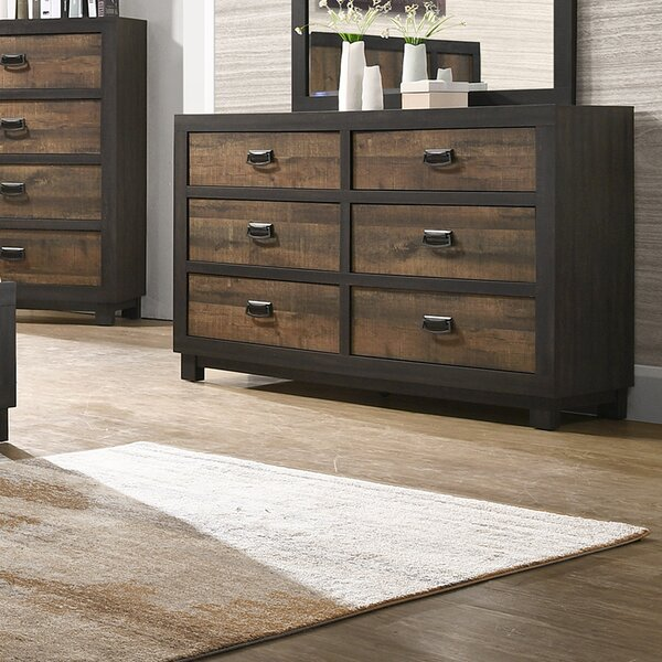 Llewellyn 6 Drawer Double Dresser by Gracie Oaks