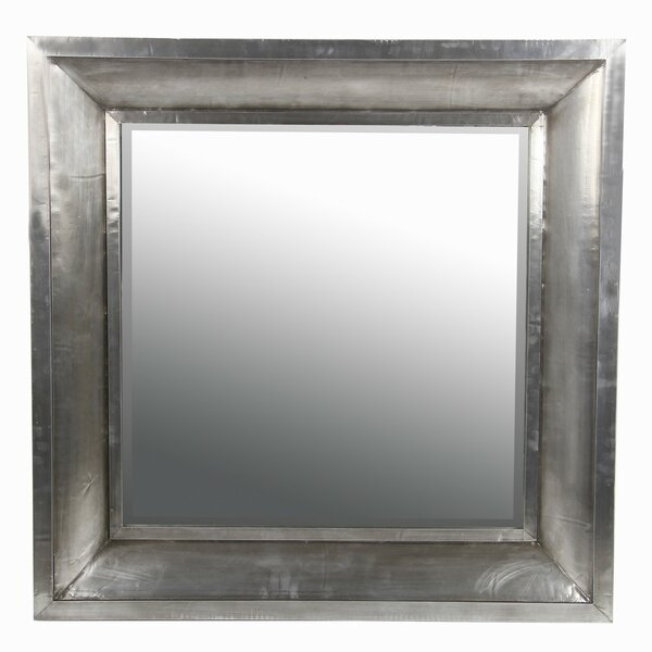 Wood and Aluminum Wall Mirror by Privilege
