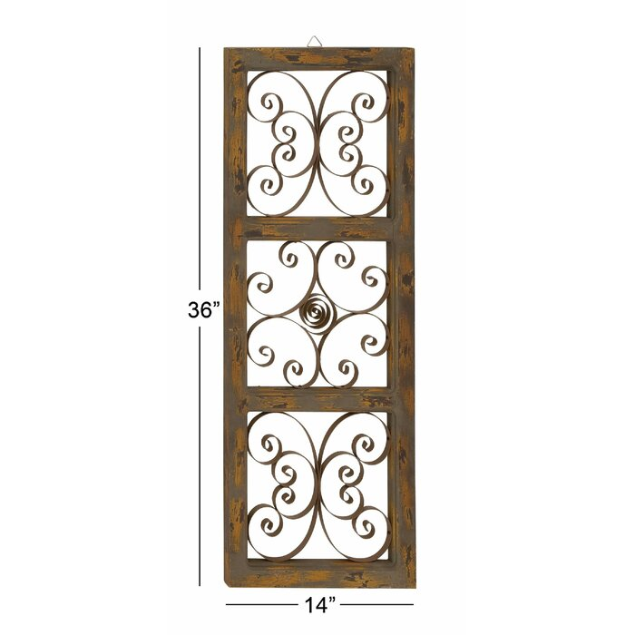 Maxwell Wood and Metal Wall Décor