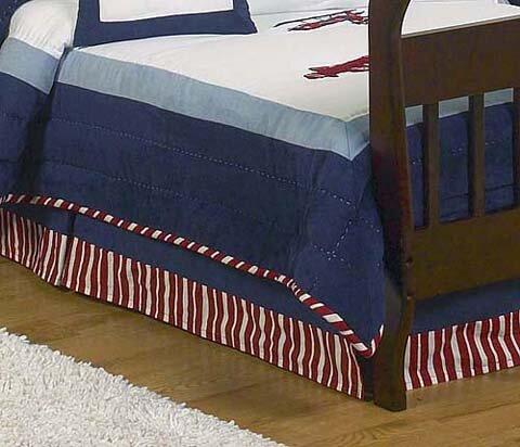 Vintage Aviator Toddler Bed Skirt by Sweet Jojo Designs