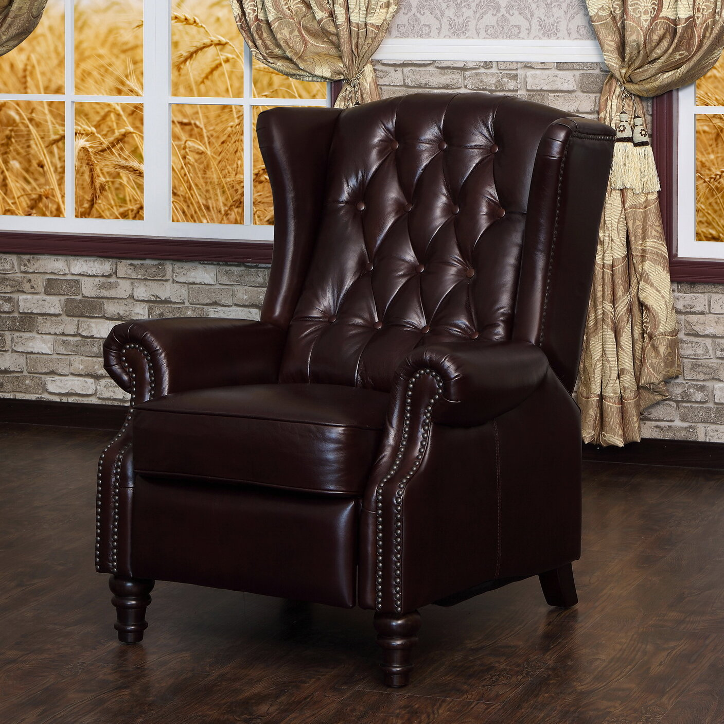 Lazzaro Leather Recliner U0026 Reviews | Wayfair