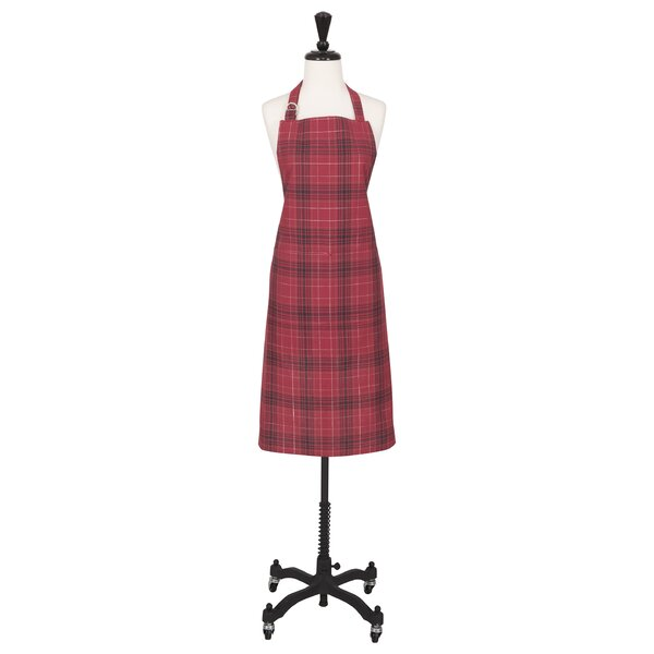 Plaid Apron by August Grove