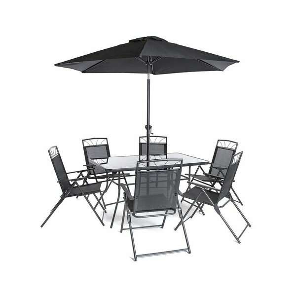Memphis Steel 8 Piece Dining Set by SunTime Outdoor Living