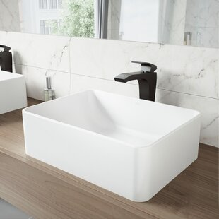 Buying VIGO Matte Stone Rectangular Vessel Bathroom Sink with Faucet By VIGO
