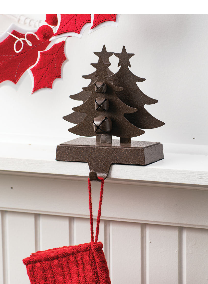 Christmas Stocking Holder.Mireille Tree With Bell Stocking Holder