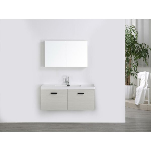 47 Wall-Mounted Single Bathroom Vanity Set with Mirror by Streamline Bath