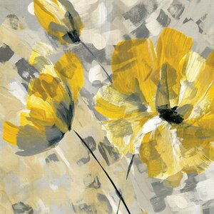 'Buttercup II' by Katrina Craven Painting Print on Wrapped Canvas by East Urban Home