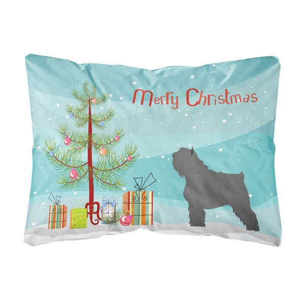 Mccoppin Bouvier Des Flandres Christmas Indoor/Outdoor Throw Pillow by The Holiday Aisle