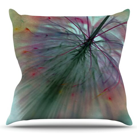 Fleur by Alison Coxon Outdoor Throw Pillow by East Urban Home