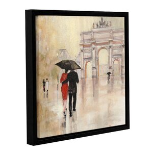 Romantic Paris II Framed Painting Print on Wrapped Canvas by Red Barrel Studio