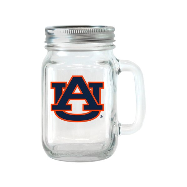 NCAA Glass 16 oz. Mason Jar (Set of 2) by Boelter Brands