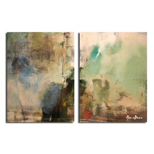 'Smash XVIIII' Oversized 2 Piece Painting Print on Canvas Set by Trent Austin Design
