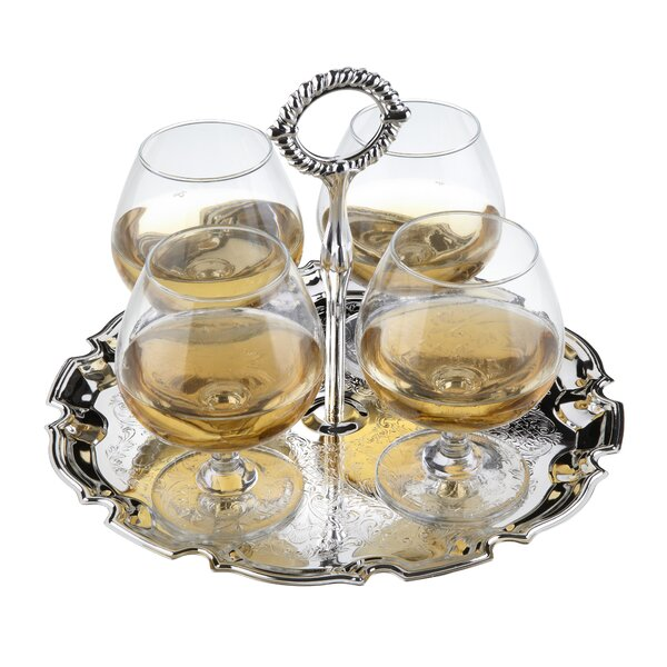 Queen Anne 5 Piece 84.5 Oz. Drinkware Set by Corbell Silver Company