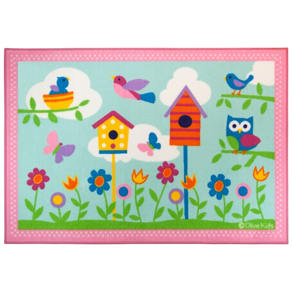 Olive Kids Birdie Pink/Blue Area Rug by Wildkin