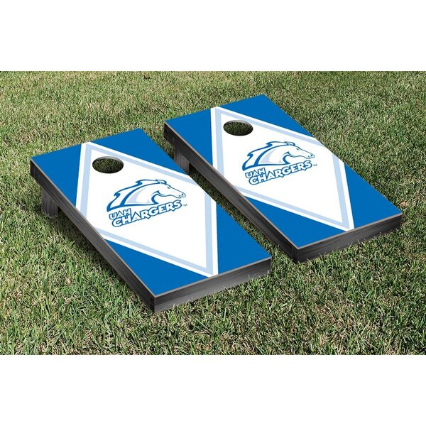 NCAA Diamond Wooden Cornhole Game Set by Victory Tailgate