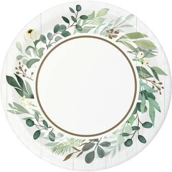 Creative Converting Autumn Wreath Heavy Weight Paper Disposable Dinner Plate Wayfair
