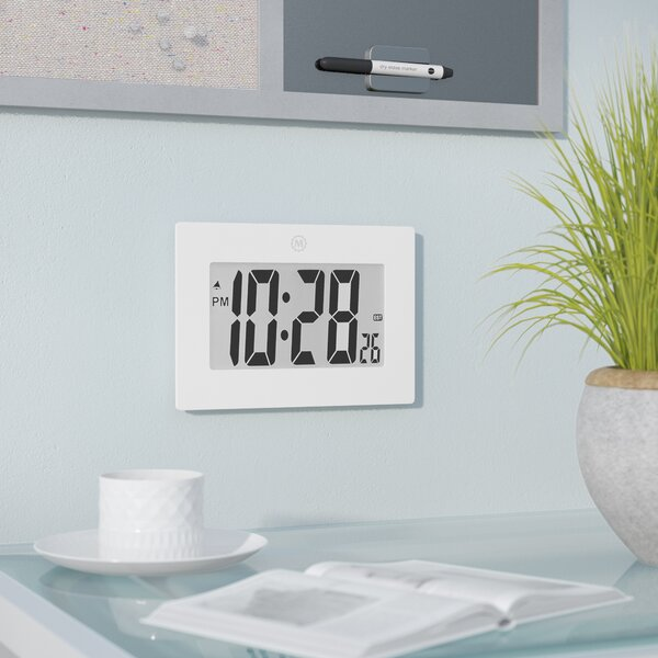 Digital Frame Desktop/Wall Clock by Symple Stuff