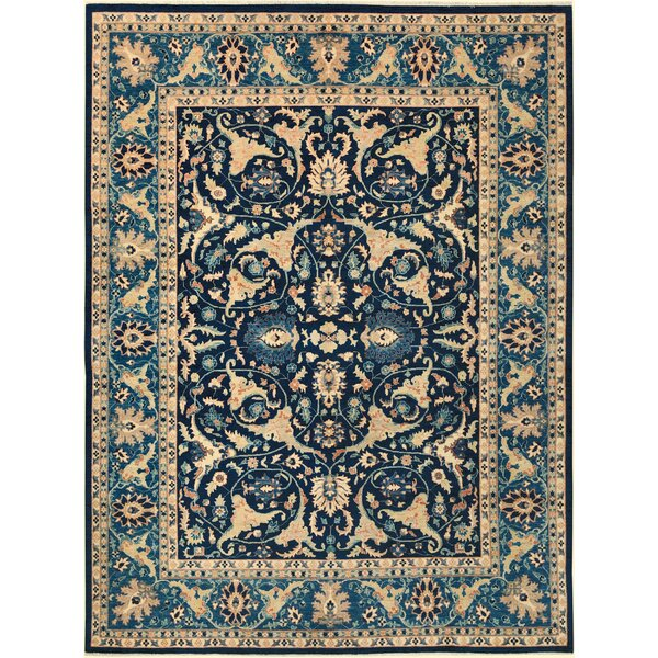 One-of-a-Kind Dorn Hand-Knotted Wool Blue/Light Blue Area Rug by Isabelline