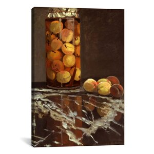 'Jar of Peaches (Das Pfirsichglas)' by Claude Monet Painting Print on Canvas by Charlton Home