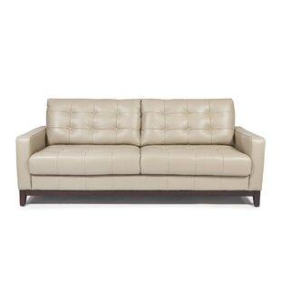 Beau Erdman Taupe Leather Sofa