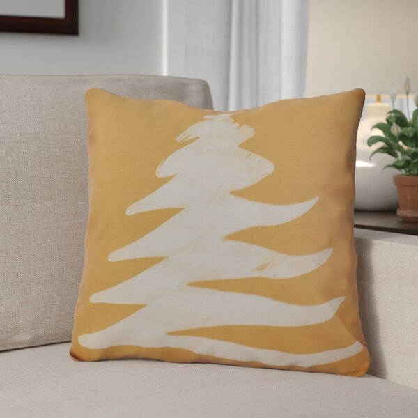 Decorative Christmas Tree Print Outdoor Throw Pillow by The Holiday Aisle